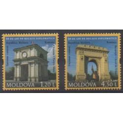 Moldova - 2011 - Nb 664/665 - Monuments