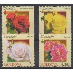 Moldova - 2012 - Nb 696/699 - Roses