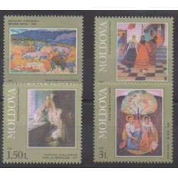 Moldavie - 2002 - No 369/372 - Peinture