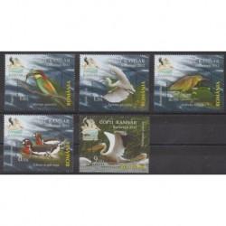Roumanie - 2012 - No 5607/5611 - Oiseaux - Environnement