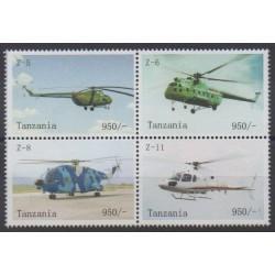 Tanzanie - 2010 - No 3680/3683 - Hélicoptères