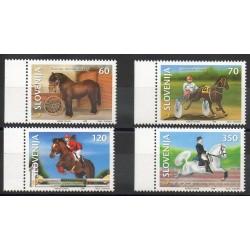 Slovenia - 1999- Nb 238/241 - Horses