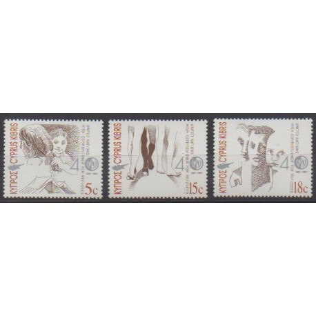Chypre - 1991 - No 777/779 - Nations unies