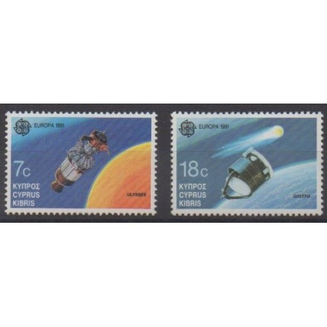 Chypre - 1991 - No 770/771 - Europa - Espace