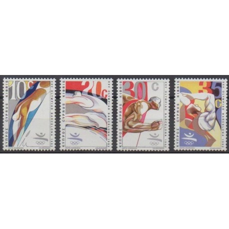 Cyprus - 1992 - Nb 783/786 - Summer Olympics