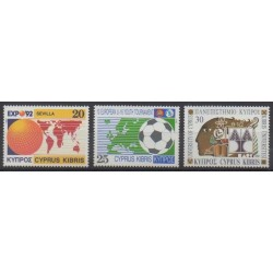 Cyprus - 1992 - Nb 787/789