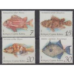Chypre - 1993 - No 811/814 - Vie marine