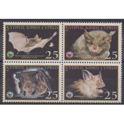 Cyprus - 2003 - Nb 1024/1027 - Mamals - Endangered species - WWF