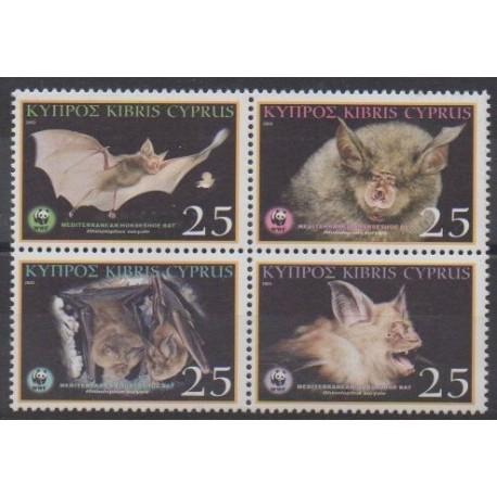 Chypre - 2003 - No 1024/1027 - Mammifères - Espèces menacées - WWF