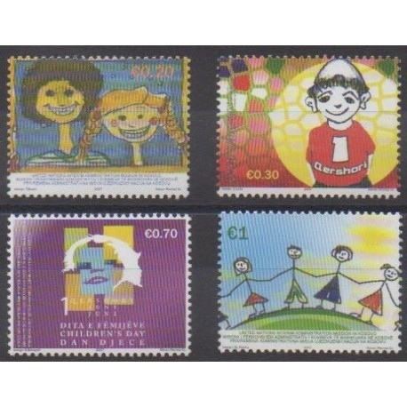 Kosovo - Administration des Nations Unies - 2007 - No 70/73 - Dessins d'enfants
