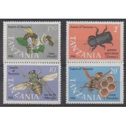 Tanzanie - 1987 - No 321/324 - Insectes
