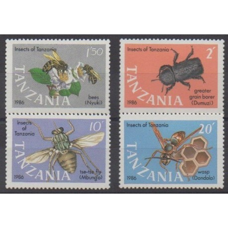 Tanzania - 1987 - Nb 321/324 - Insects