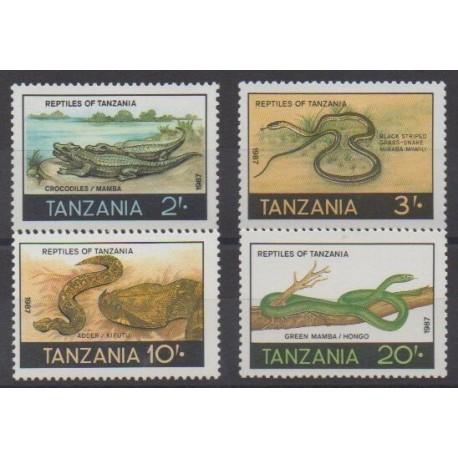 Tanzanie - 1987 - No 325/328 - Reptiles