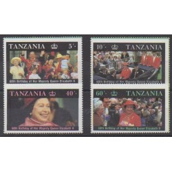 Tanzania - 1987 - Nb 317/320 - Royalty