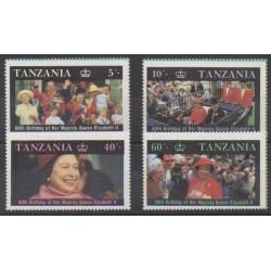Tanzanie - 1987 - No 317/320 - Royauté - Principauté