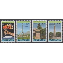 Tanzania - 1988 - Nb 367/370 - Monuments