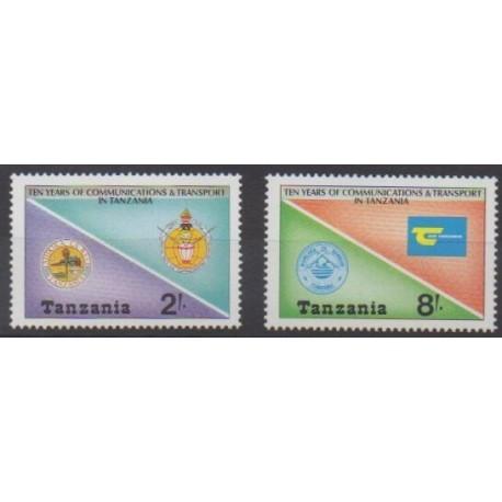 Tanzanie - 1987 - No 329/330 - Télécommunications