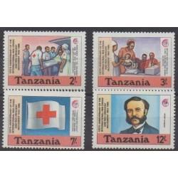 Tanzanie - 1988 - No 420/423 - Santé ou Croix-Rouge