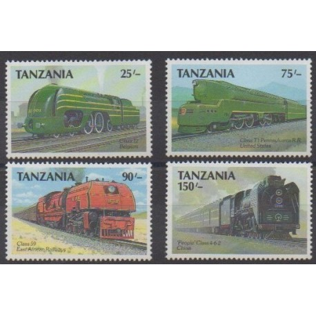 Tanzanie - 1989 - No 452/455 - Chemins de fer
