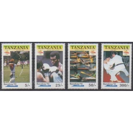 Tanzanie - 1990 - No 611/614 - Jeux Olympiques d'été