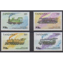 Tanzania - 1991 - Nb 668/671 - Trains - Philately