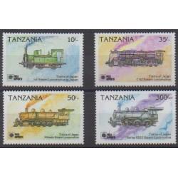 Tanzanie - 1991 - No 668/671 - Chemins de fer - Philatélie