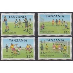 Tanzania - 1990 - Nb 551A/551D - Soccer World Cup