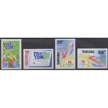 Tanzanie - 1991 - No 689/692 - Télécommunications