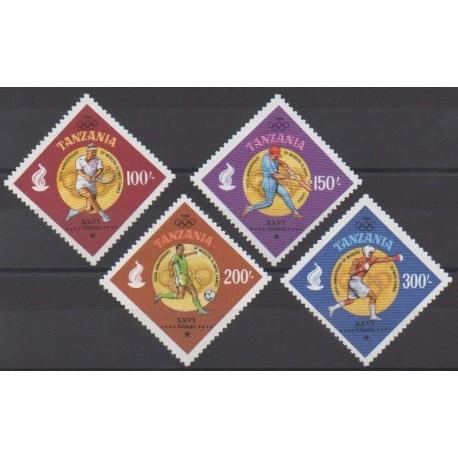Tanzanie - 1996 - No 2115A/2115D - Jeux Olympiques d'été