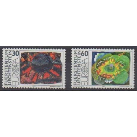 Liechtenstein - 1975 - No 566/567 - Peinture - Europa