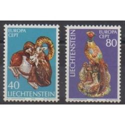 Liechtenstein - 1976 - No 585/586 - Artisanat ou métiers - Europa
