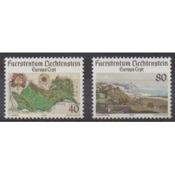Liechtenstein - 1977 - No 612/613 - Sites - Europa