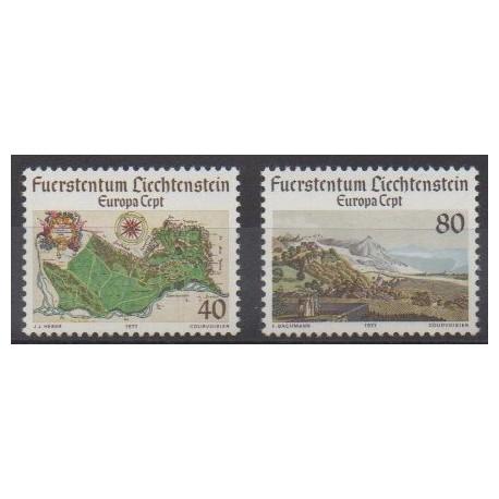 Lienchtentein - 1977 - Nb 612/613 - Sights - Europa