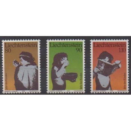 Liechtenstein - 1979 - No 666/668 - Enfance