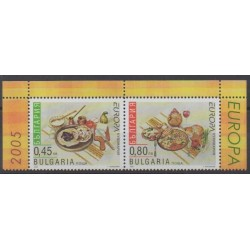 Bulgaria - 2005 - Nb 4057a/4058a - Gastronomy - Europa