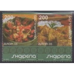 Albanie - 2005 - No 2773a/2774a - Gastronomie - Europa