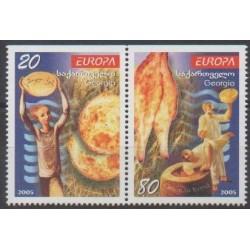 Georgia - 2005 - Nb 381a/382a - Gastronomy - Europa