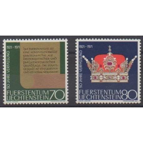Liechtenstein - 1971 - No 489/490 - Histoire