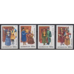 Azerbaijan - 2004 - Nb 502/505 - Costumes - Uniforms - Fashion