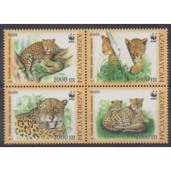 Azerbaijan - 2005 - Nb 507/510 - Mamals - Endangered species - WWF