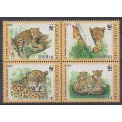 Azerbaïdjan - 2005 - No 507/510 - Mammifères - Espèces menacées - WWF