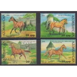 Azerbaïdjan - 2006 - No 554/557 - Chevaux