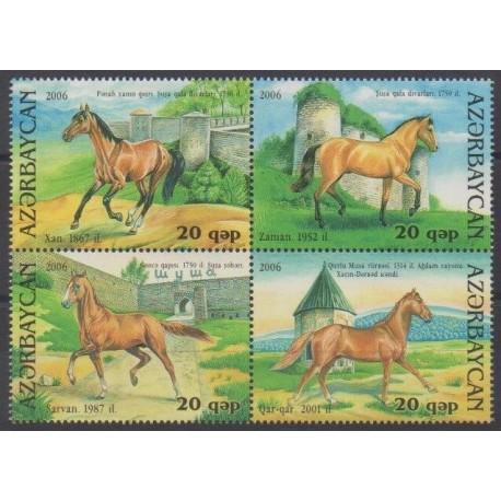 Azerbaïdjan - 2006 - No 558/561 - Chevaux