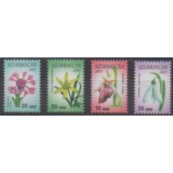 Azerbaijan - 2011 - Nb 716/717 - 726/727 - Flowers