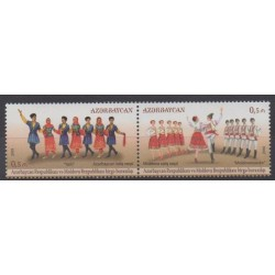 Azerbaijan - 2015 - Nb 908/909 - Costumes - Uniforms - Fashion - Folklore