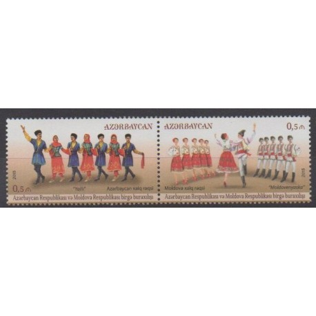 Azerbaijan - 2015 - Nb 908/909 - Costumes - Uniforms - Fashion - Folklore