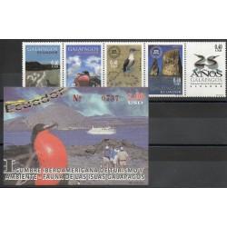 Équateur - 2003- No 1776/1780 - BF 117 - Oiseaux