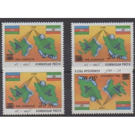 Azerbaïdjan - 1994 - No 124/127 - Télécommunications