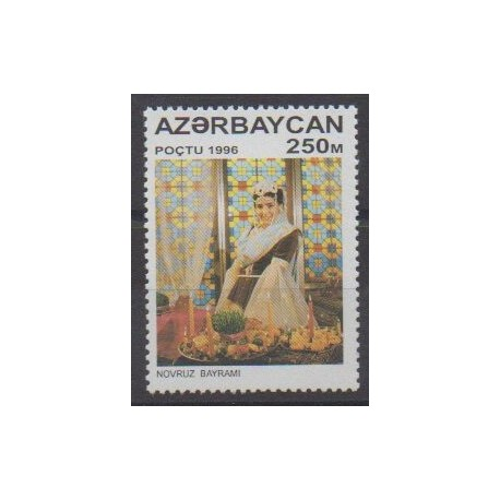 Azerbaïdjan - 1996 - No 259 - Costumes - Gastronomie