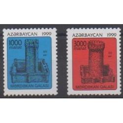Azerbaïdjan - 1999 - No 388/389 - Châteaux